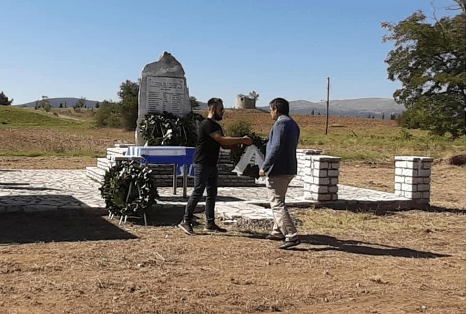 Καταθεση στεφάνου Ν.Ε Σύριζα Αρκαδίας -Αλώνια Αλέας